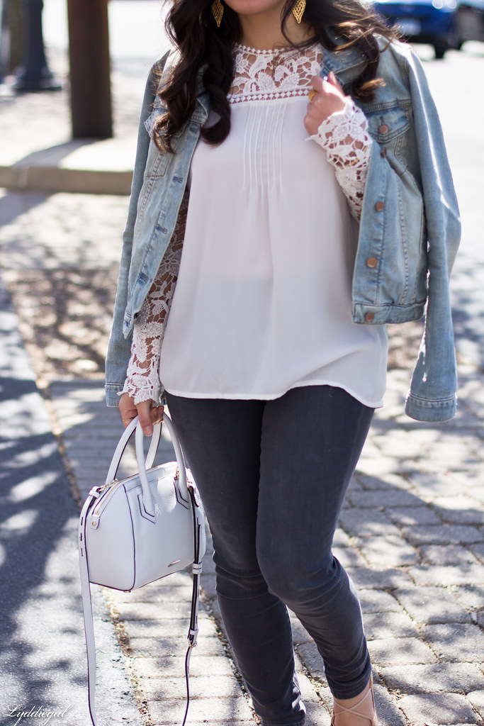 lace blouse, grey jeans, denim jacket, lace up flats-5.jpg