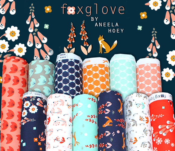 Cloud9 Fabrics Foxglove Collection by Aneela Hoey