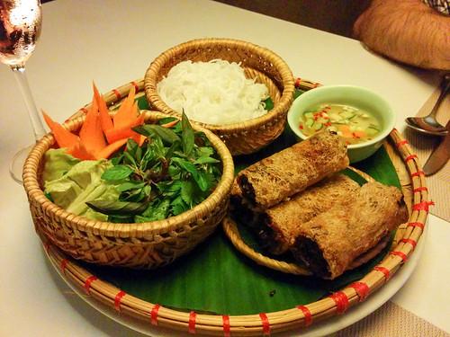 Hanoi crispy spring rolls @ Gourmet Corner Restaurant