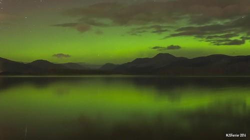 Northern Lights Reflections - Loch Lomond 30mm