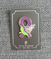 Terry Pratchett memorial brooch