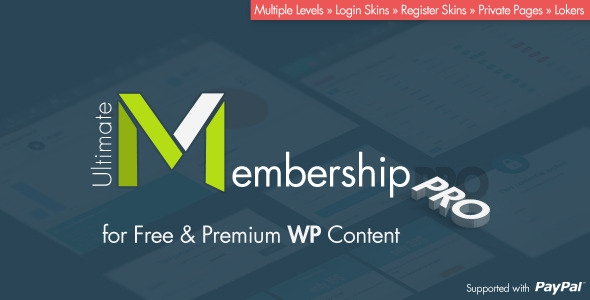 Ultimate Membership Pro v4.0 – WordPress Plugin