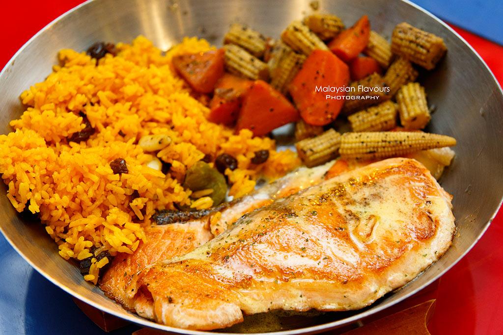 Fish & Co. Malaysia Set Lunch Menu grilled salmon mediterranean