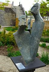 Sculpture by Tonderai Mashaya from Zimbabwe, Salt Lake City Public Library garden