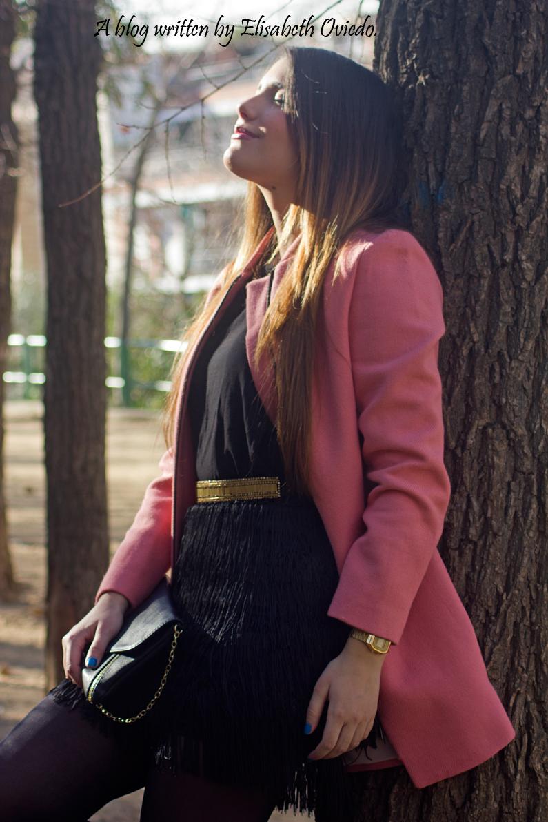abrigo rosa ZARA falda bershka botines MARYPAZ HEELSANDROSES (3)