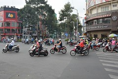 Busy streets of Saigon (HCMC, Vietnam 2016)