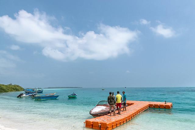 Boats at Bangaram Island, Lakshadweep