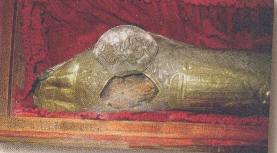 tibia dreapta a Sfantului Stefanos