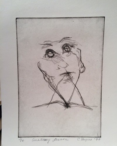 Drypoint etching from first etching class at #UofMichigan #throwbackthursday