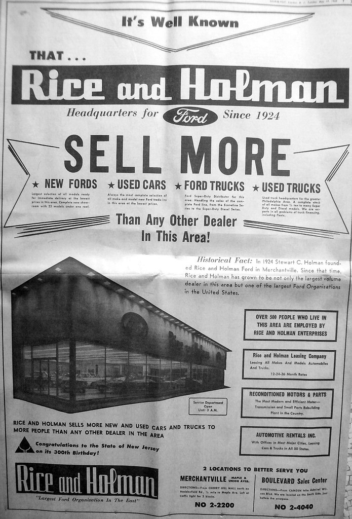 Rice And Holman Ford 1964