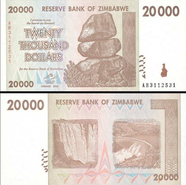 Zimbabwe p73a: 20000 Dollars from 2007