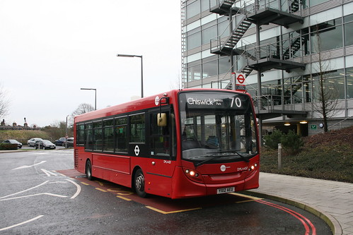 Tower Transit DML44317 on Route 70, Chiswick Business Park
