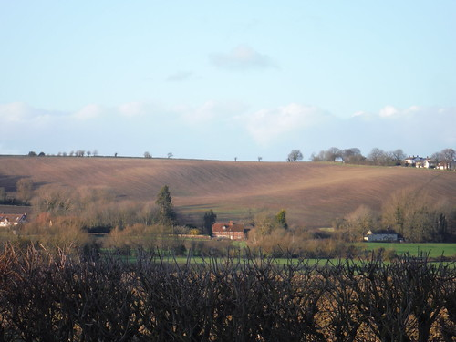 Fieldscape above Nether Winchendon (with footpath at right hand side)