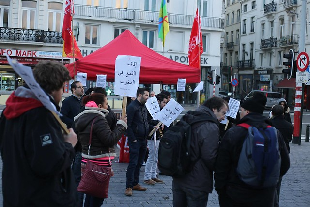 Solidarité avec les enseignants stagiaires en Maroc // Photos de PPICS