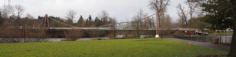 Peter DeFazio Bridge: This bridge carries pedestrians and cyclists across the Willamette River.