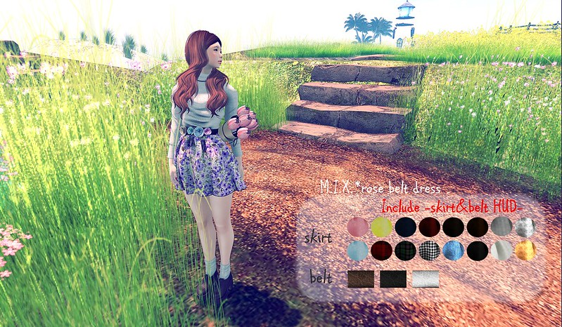 M.I.X.*rose belt dress@SaNaRae 5Round