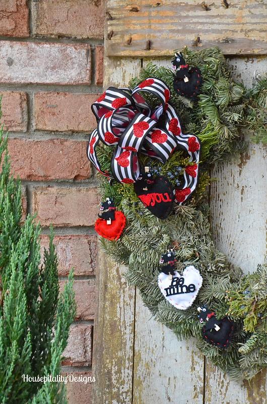 Valentine's Day Wreath/Vintage Door - Housepitalty Designs