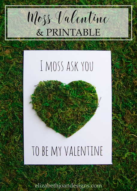 Moss Valentine's Day Card Valentine's Day Projects & Printables