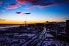 Sunset over Coney Island, NY
