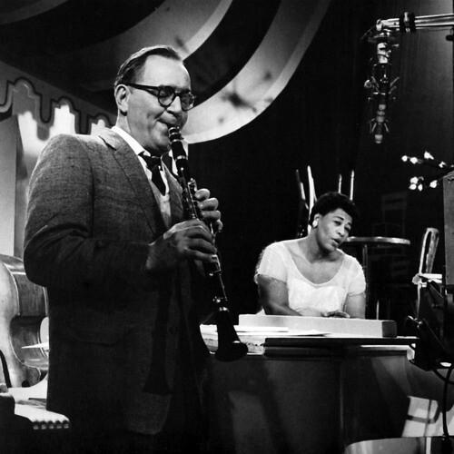 photo of Benny Goodman with Ella Fitzgerald