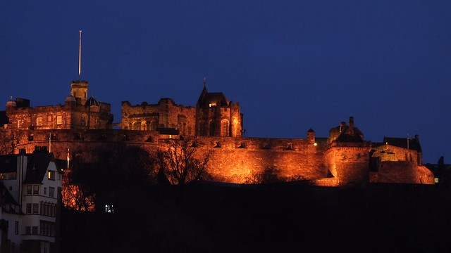 Edinburgh Castle, dusk