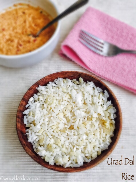 Urad Dal Rice Recipe for Babies, Toddlers and Kids