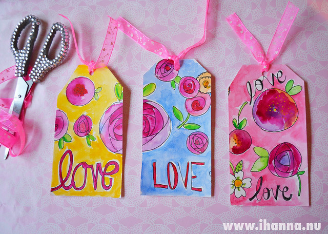 iHanna's finished DIY Gift Tags for Valentine's Day