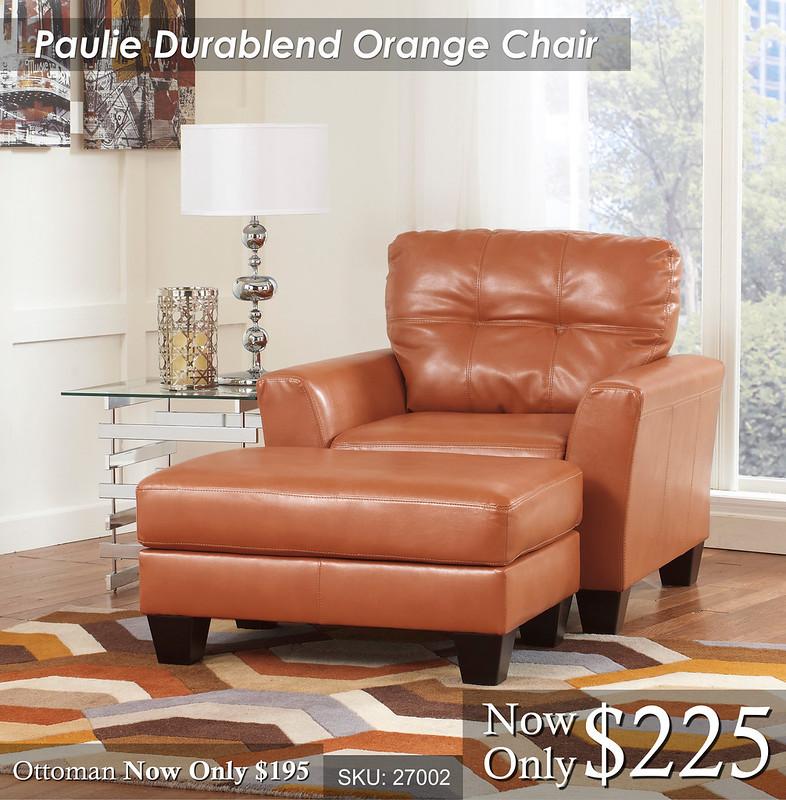 Paulie Durablend Orange Chair