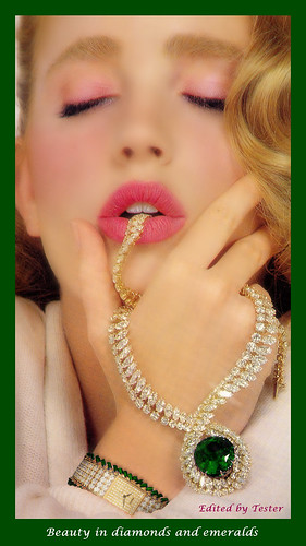 Beauty in diamonds and emeralds FHD