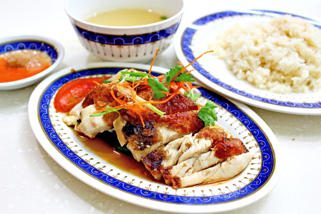 Orchard Road: Lucky Chicken Rice Roasted Chicken Rice Set With Chili