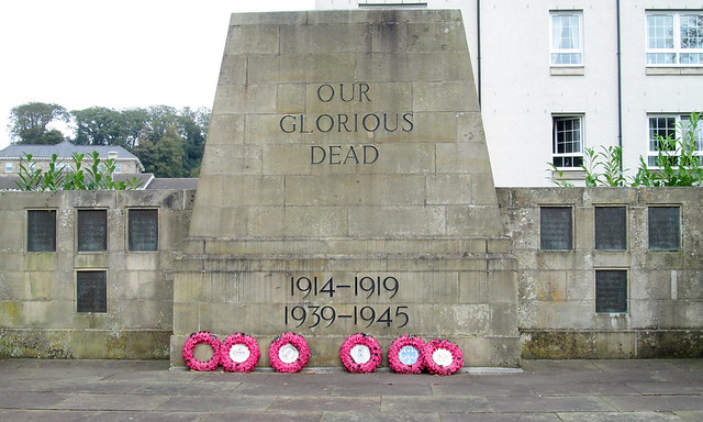 Cardross War Memorial Close-up