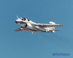 'Kodachrome II' of a Rising EA-6B Prowler in Ferry Configuration