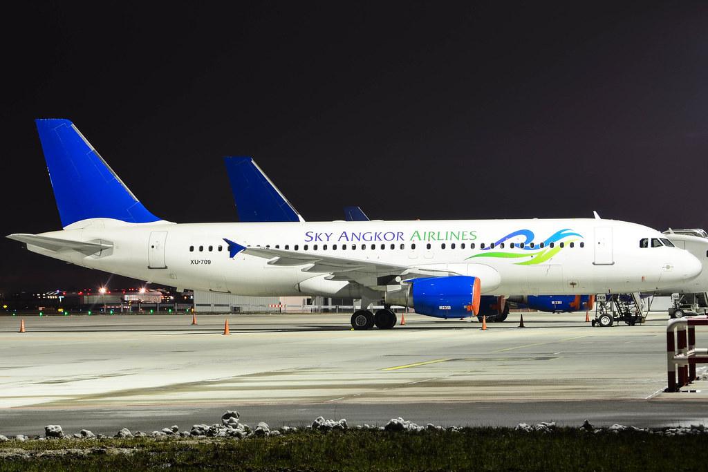 Airbus A320-214 / XU-709 / Sky Angkor Airlines / EPWA Warsaw Chopin Airport
