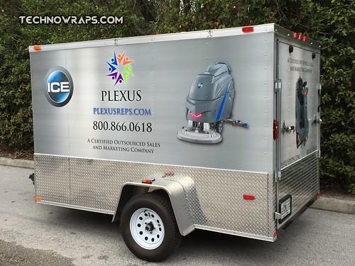TechnoWraps trailer wrap Orlando
