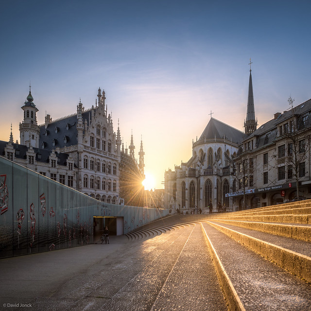 Sunset at Pieter de Somerplein - Leuven