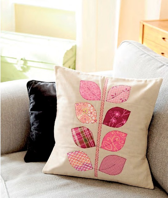 Applique Leaf Cushion (Sewing World May16)