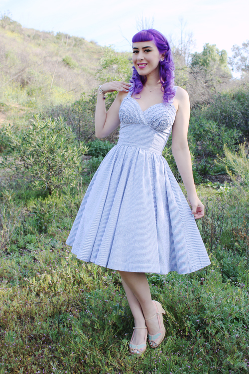 Trashy Diva Apple Tart Dress in Seersucker