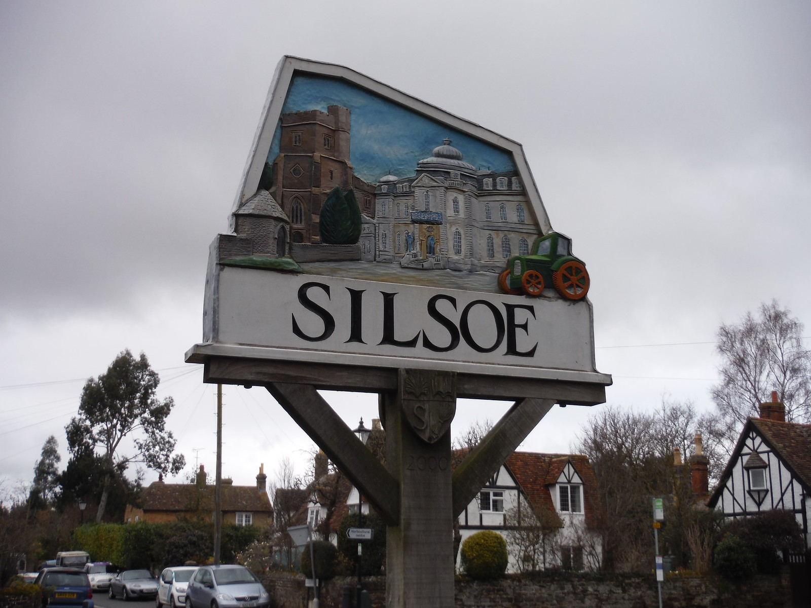 Silsoe village sign SWC Walk 231 Flitwick Circular