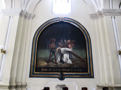 Léon: un des tableaux illustrant le chemin de croix