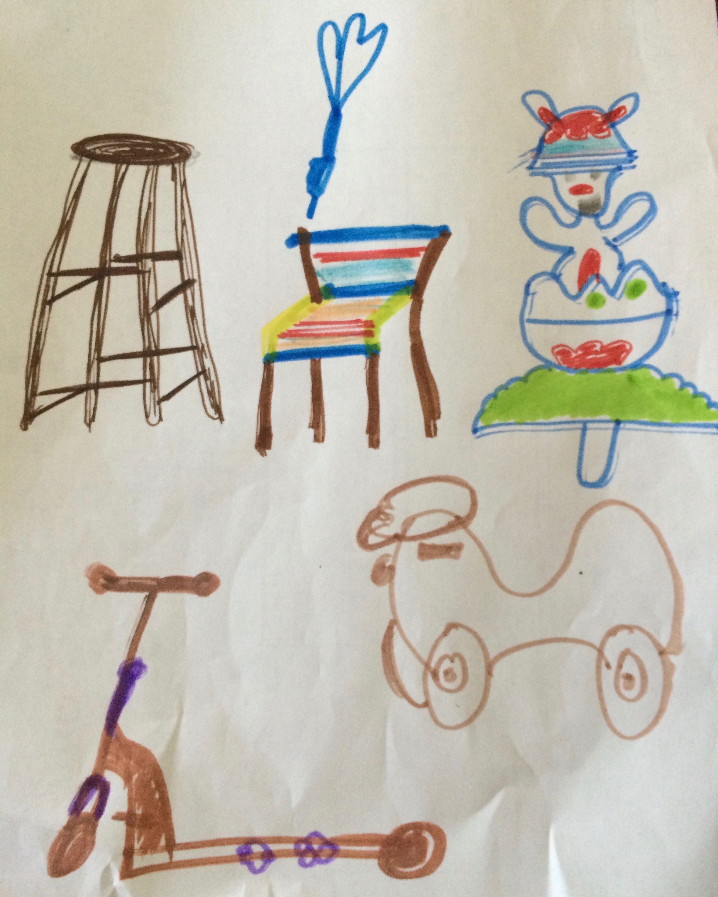 Daddy's real-time-drawing lesson