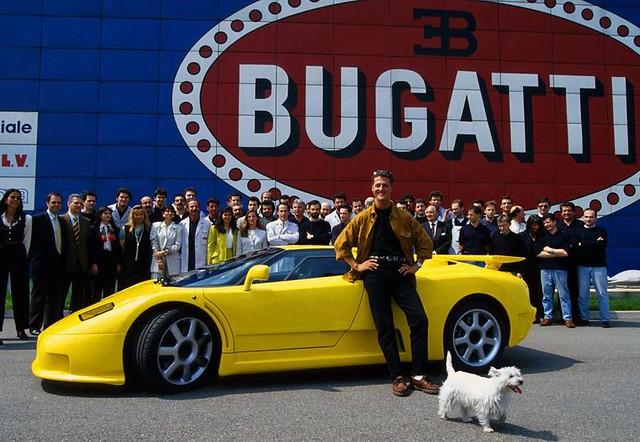 Bugatti EB110 SS и Михаэль Шумахер. 1994 год