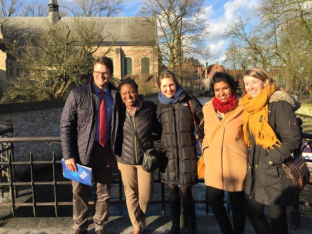 Photo: In Bruges with other attendees of the EU-NATO Seminar