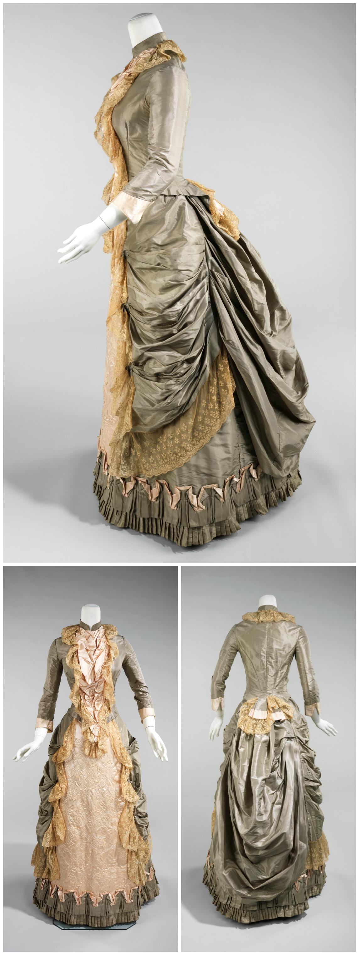 1880. American. Silk. metmuseum.org