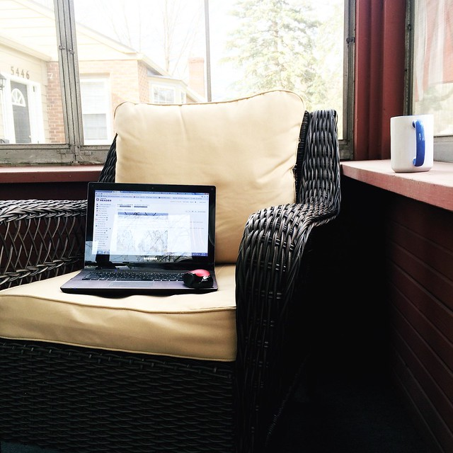 porch sitting area set up
