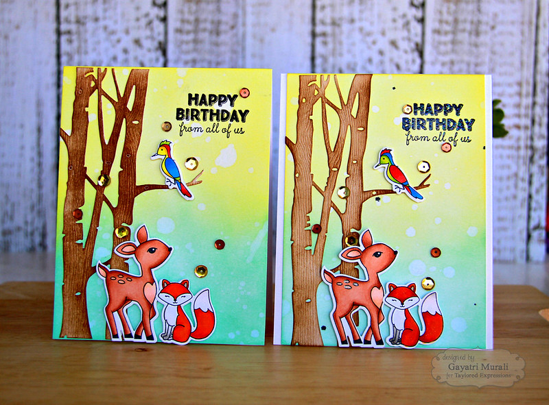 Happy Birthday from all of us two cards