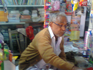 Sanat Debnath in his shope