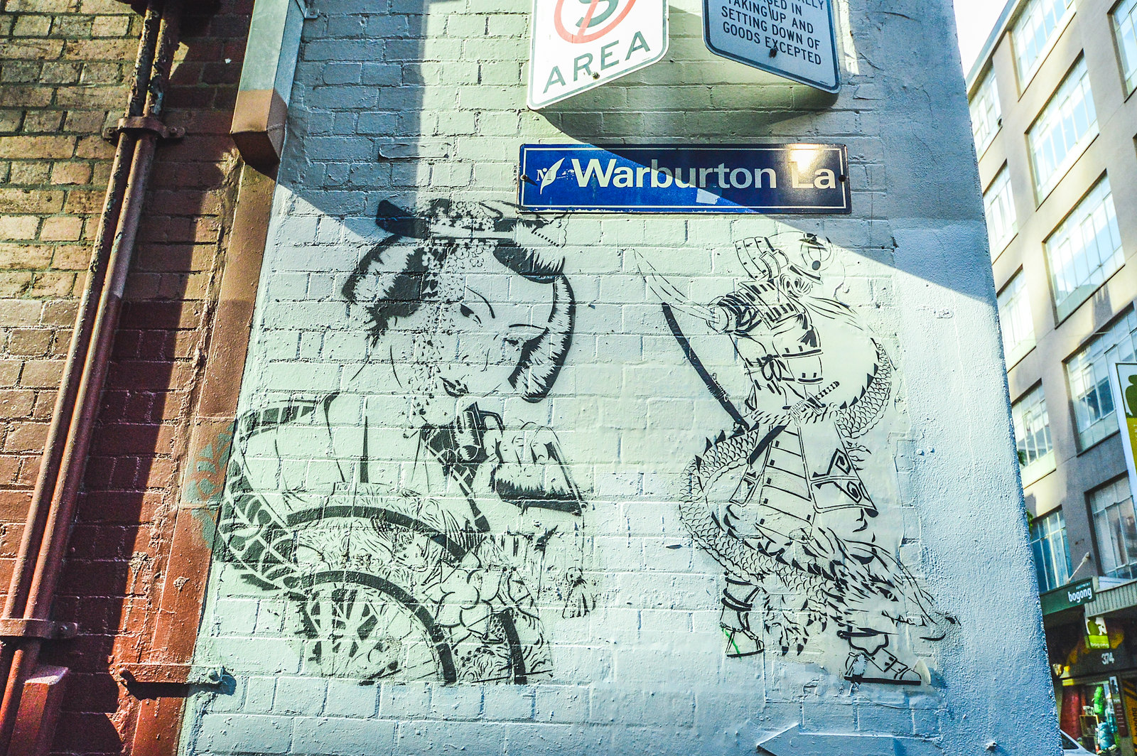 Melbourne Warburton Lane Street Art 2015