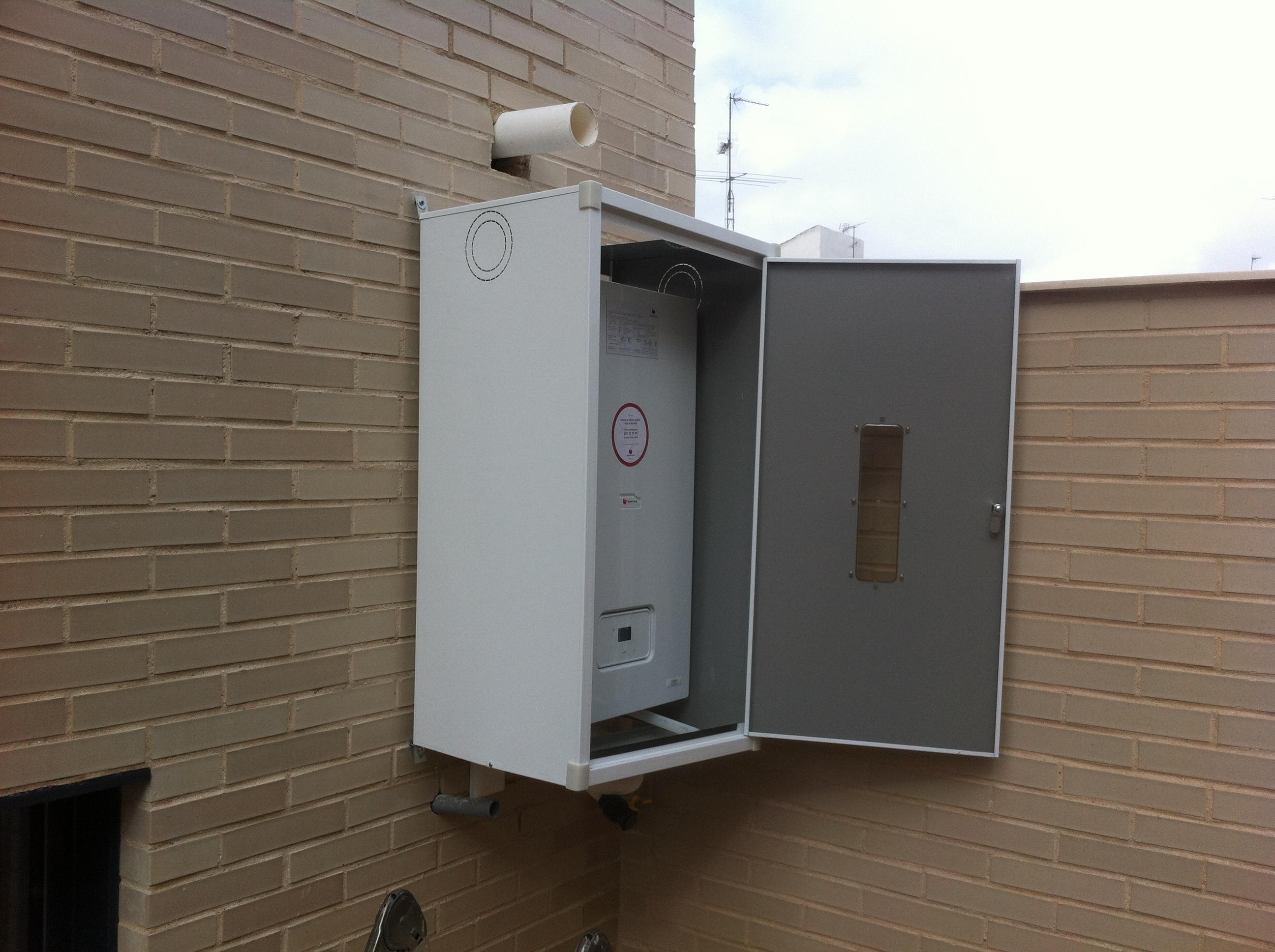Armario caldera exterior gallery of fabricacin de armario para caldera exterior en aluminio - Armario para caldera exterior ...