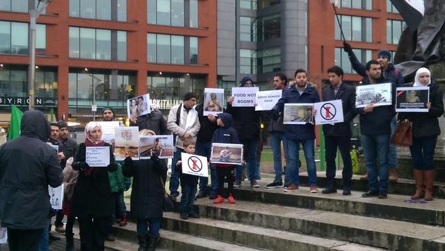 Protest Drop Food not Bombs 16 Jan 2016