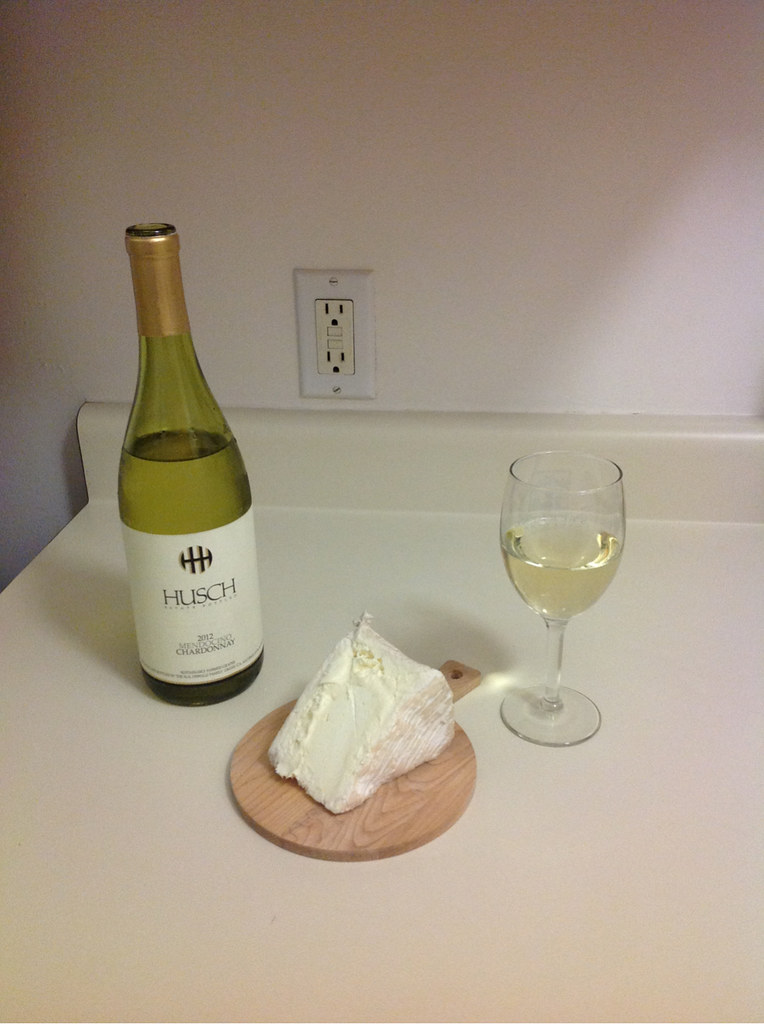 Chardonnay and Le Delice de Bourgogne Cheese 1